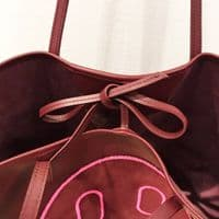 Hill & Friends Burgundy Leather Tote Bag #2337/A
